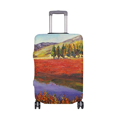 Otoño Campo y montañas Pintura al óleo Viajeros Elección Equipaje de Viaje con Ruedas giratorias Maleta de Equipaje de 20 Pulgadas