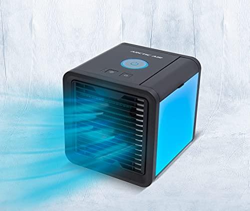 Livington Arctic Air schwarz – Luftkühler mit Verdunstungskühlung – Mobiles Klimagerät mit 3 Stufen & 7 Stimmungslichtern – Mini Klimagerät, Tankvolumen für 8h Kühlung | Das Original aus dem TV