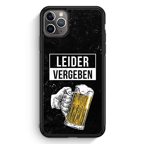 Leider Vergeben Bier - Silikon Hülle für iPhone 11 Pro - Motiv Design Cool Witzig Lustig Spruch Zitat Jungs Männer Herren - Cover Handyhülle Schutzhülle Hülle Schale