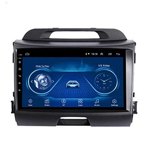 Autoradio Bluetooth Vivavoce 9 Pouces Android 8.1 Car Stereo con WiFi Bluetooth GPS SAT Navi Dvd Player per KIA Sportage R 2010-2016 FM Radio Mirror Link 2 USBwith OBD2