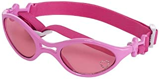 Doggles K9 Optix Shiny Pink Rubber Frame with Pink Lens Sunglasses, Large by Doggles