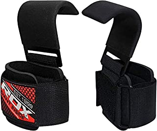 RDX Weight Lifting Hook Straps Neoprene Padded Wrist Grips for Powerlifting, Weightlifting, Bodybuilding, Strength Training & Workout-Great for Deadlift, Shrugs, Chin Up And Dumbbell Rows (B006CDPF1I) | Amazon price tracker / tracking, Amazon price history charts, Amazon price watches, Amazon price drop alerts