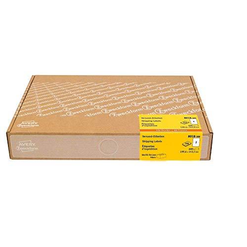 AVERY Zweckform 8018 Versandetiketten Art. 8018 (199,6 x 143,5 mm (A5) Adressetiketten selbstklebend für DHL und Hermes, Versandaufkleber, 3655, 300 Blatt, für alle Drucker)