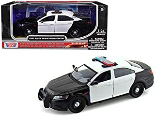 Ford Police Interceptor Concept Car Unmarked Black/White 1/24 Diecast Model Car by Motormax 76925CONCEPT