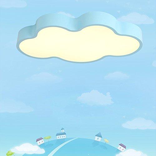 Accesorio de luz de Techo Nubes Creativas Techo de la Sala Infantil de Hierro, luz cálida luz de Techo Moderna, Comedor Dormitorio lámparas Decorativas, LED 60 * 8cm para Cocina Baño Dormitorio Pasi