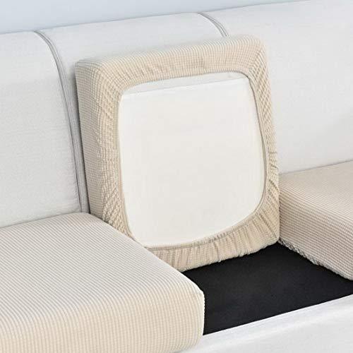 Urijk Sofa Sitzkissenbezug Couch-Kissenbezug Stretch Elastisch Jacquard Sofa Husse Husse Überzug Bezug Sitzbezüge Kissenbezüge für Sofa Sitzkissen(Beige,1 Sitzer)