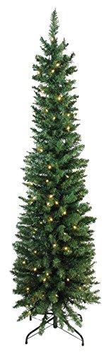 Northlight 6' x 21' Pre-Lit Northern Balsam Fir Pencil Artificial Christmas Tree - Warm Clear LED Lights