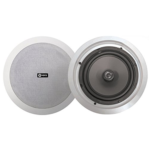 New VOYZ Ceiling Speaker 6.5 Inches 30W with 1 Silk Dome Tweeter - in Ceiling/in Wall Flush Mount ...