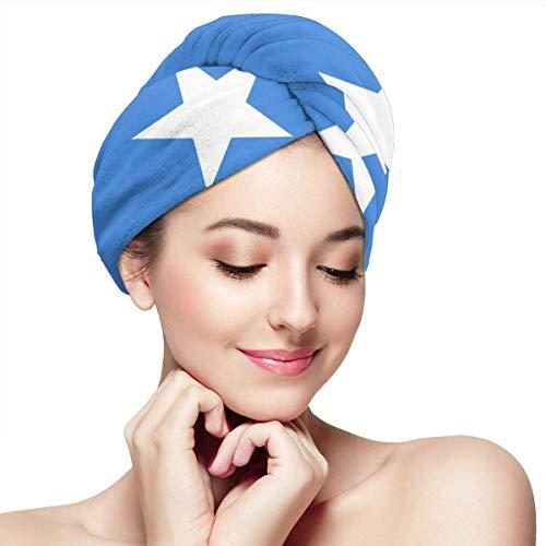 Somalia Fahne Haarhandtücher Wrap Print Knöpfe trockenes Haar Hut gewickelt Badekappe saugfähig Kappe passend für die meisten Haartypen