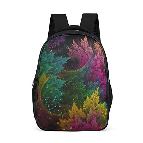 Fineiwillgo Mochila de senderismo con purpurina, diseño de árbol, color gris brillante, talla única