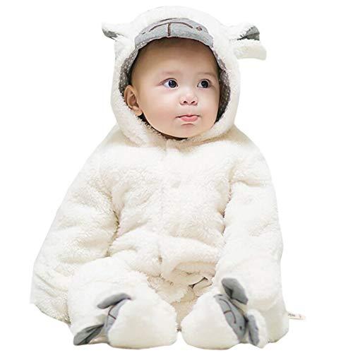 Gaga city Bebés Mamelucos de Franela Footies Disfraz Animales de Halloween Carnaval Pijama Mono con Capucha Otoño Invierno Ropa Unisex