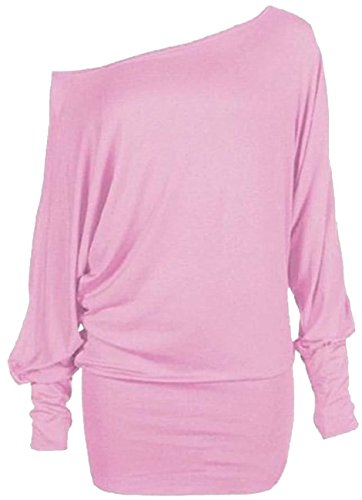 Off Shoulder Plain Batwing Top, Many Colors - Sizes 4 to 22