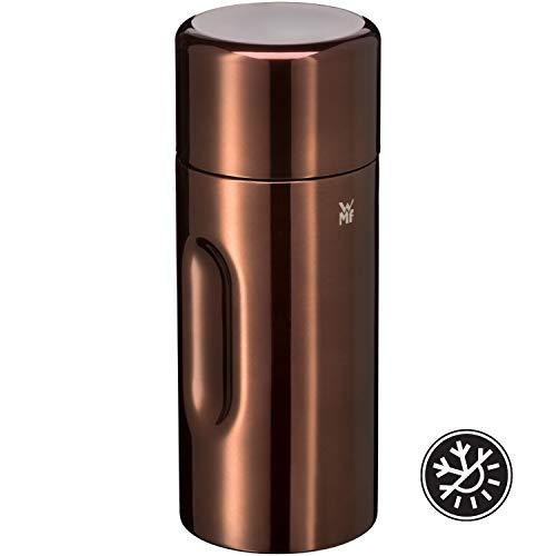 WMF Motion Isolierkanne 0,5l Cromargan Edelstahl, für Tee oder Kaffee, Thermosflasche mit Trinkbecher, hält 24h kalt & 12h warm, kupfer