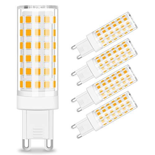 KINGSO G9 LED Lampen 8W Warmweiß 3000K G9 Leuchtmittel Nicht Dimmbar Kein Flimmern, 700LM ersetzt 80W Halogenlampen - 5er Pack