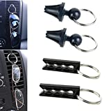 4-Pak Air vent Sunglass Eyeglass Holder for Auto, Car, Truck, or RV- (Easy Installation -Just Clip to Air Vent and Hang)