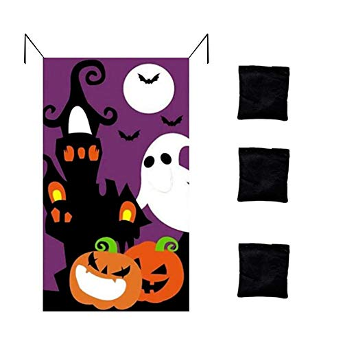 perfecti Kürbis Sitzsack Halloween Party Dekoration Kinder Party Toss Spiele Spaß Halloween Familienspiele Für Indoor Outdoor, 100 x 70CM
