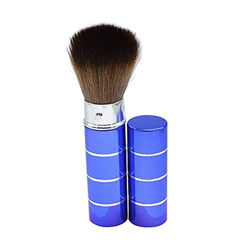 Ensemble de pinceaux de maquillage avec poignée rétractable et pinceau de maquillage professionnel pour poudre, blush (bleu)