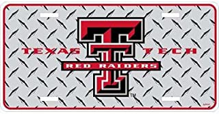 Texas Tech University Chrome Diamond Plate Car Tag