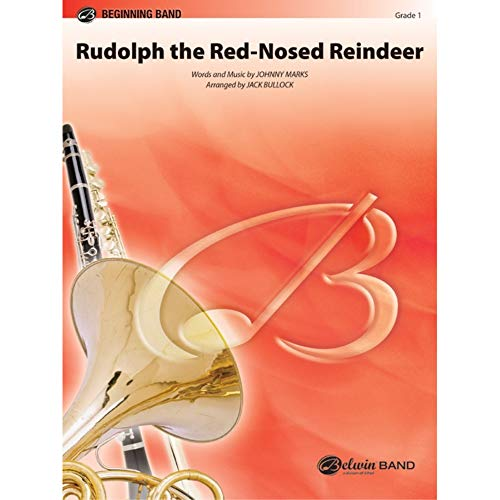 Johnny Marks-Rudolph - Fascia da concerto con renna dal naso rosso