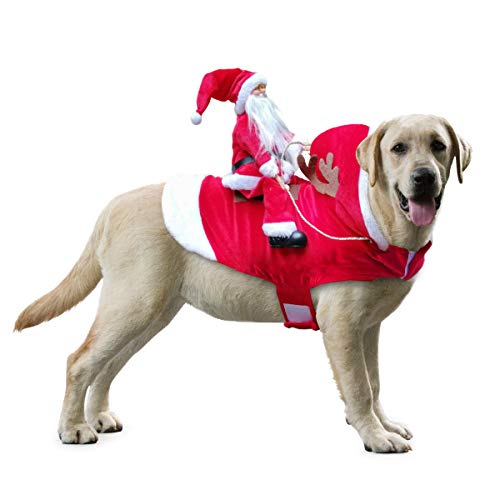 Idepet Funny Pet Dog Cat Christmas Costume Santa Dogs Winter Hoodie Coat Clothes for Christmas Hallo - http://coolthings.us