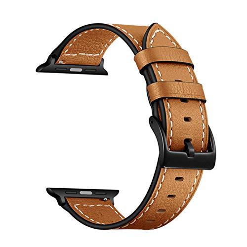 Correa de reloj CHERRYY para Apple Watch Band 44mm Serie 4 40mm Bandas de cuero genuino Link Pulsera de muñeca para IWatch Series 1/2/3 38mm 42mm