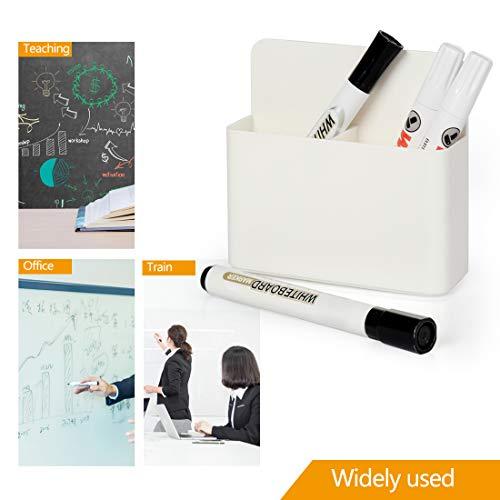 2 Pack Magnetic Dry Erase Marker Holder, Whiteboard Marker Holder, Mighty-magnetic Marker Pen Organizer for Whiteboards (White) Photo #6