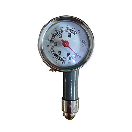 Morninganswer Medidor de presión de neumáticos de Aire de camión de tamaño Compacto, medidor de dial, probador de presión de neumáticos de vehículo Universal, Herramienta de monitoreo
