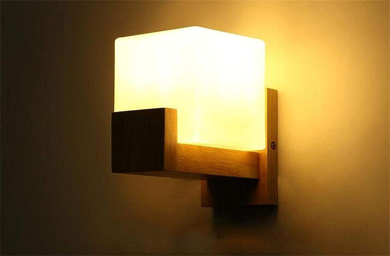 KAIASlink Einfache Moderne massivholz Wandleuchte led Schlafzimmer Wohnzimmer massivholz Wandleuchte