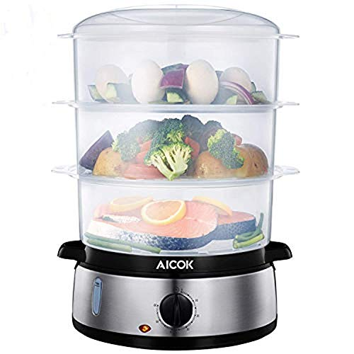 Aicok Food Steamer, 9.5 Quart Vegetable Steamer with...