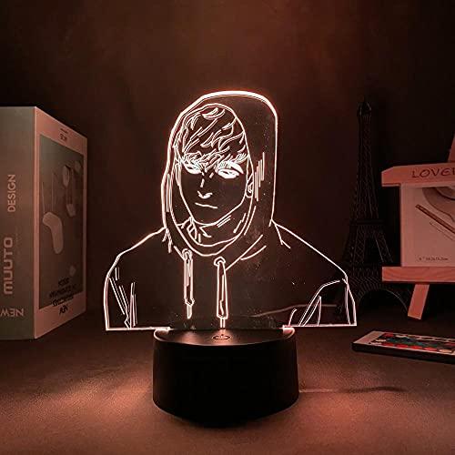 Lámpara de ilusión 3D Mood Led Luz de noche Figura acrílica D Anime Kill Track Manga Oh Sangwoo Decor-Black Base_With Remote