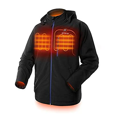 ORORO Men's Heated Jacket with Detachable Hood and Battery Pack (Black/Blue, XXL) by GUANGDONG SHANGRILA NETWORKING TECHNOLOGY CO., LTD