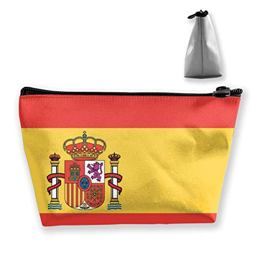 Trapezoid Makeup Pouch Storage Holder Flag of Spain Womens Travel Case Cosmetic Makeup Pouch