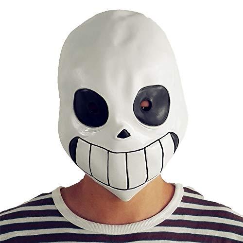 BBBL Undertale Sans Mask Latex Full Head Helmet White