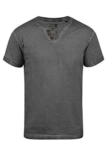 !Solid Tino Herren T-Shirt Kurzarm Shirt Mit V-Ausschnitt Aus 100% Baumwolle, Größe:XXL, Farbe:Black (9000)