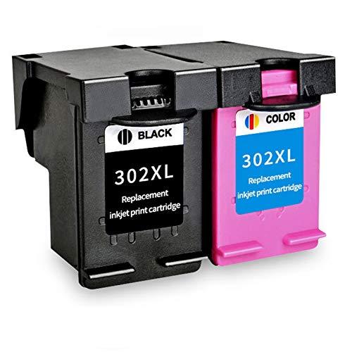 Cartucho de tinta 302XL, repuesto para impresora HP Deskjet 1110 1112 2130 2131 2132 2133 3634 3632 4513 4516 4517 4520 de alto rendimiento tinta negra tricolor 1 negro 1 tricolor
