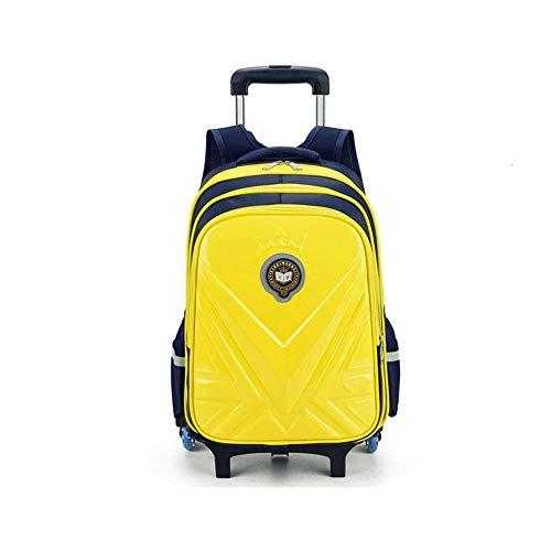 Robuste Universal-Rad-Trolley-Reisetasche Grundschule Kinder-Trolley-Tasche Jungen und Mädchen 6-Räder-Reiserucksack Multifunktions-Langlebige Formräder mit großer Kapazität (Farbe: Rosarot, Größe:
