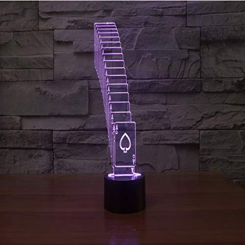 Yyhmkb Comodino Con Sveglia Team Comodino Camera Regala Comodini Carte Da Gioco Impilate 3D Lights Lampada Da Tavolo Regalo A Luce Visiva Ricaricabile A Led Colorata Touch