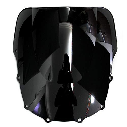 Parabrisas de doble burbuja para moto Kawasaki ZZR400 ZZR600 ZZR 400 600 1993-2004 doble burbuja deflectores de viento motocicleta motocicleta motocicleta choque amortiguadores traseros