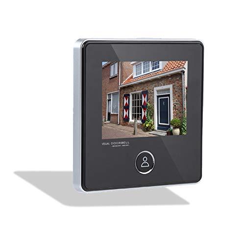 Lazmin Timbre de Visor de Interior Digital, Monitor de cámara de Seguridad de Timbre Inteligente de visión Nocturna de 3 Pulgadas 3MP HD para el hogar