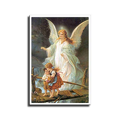 Angel De Mi Guarda, Wall Art for Living Room Canvas Wall Decoration 1 Modern Canvas Print Painting (Unframed,12x18 inch)