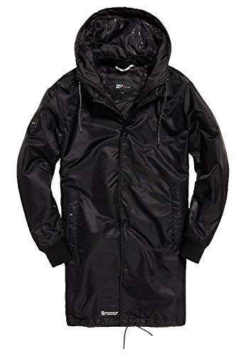 Superdry Mantel Herren Surplus Goods Coach Trench Black, Größe:XL