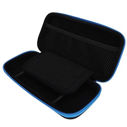 Surebuy Custodia Protettiva per Console di Gioco Custodia Protettiva con Cerniera Completa Materiale Eva, per Switch Lite, Accessorio per Console di Gioco, per Viaggiare(Black Blue)
