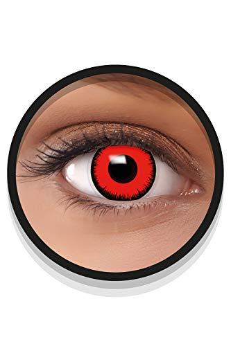FXEYEZ Farbige Halloween Kontaktlinsen rot VOLTURI VAMPIR, weich, 2 Stück (1 Paar), Ohne Sehstärke