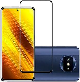 واقي شاشة من الزجاج المقسى بالكامل 21D، يلتصق بالكامل، متوافق مع شاومي بوكو اكس 3، بوكو اكس 3 برو