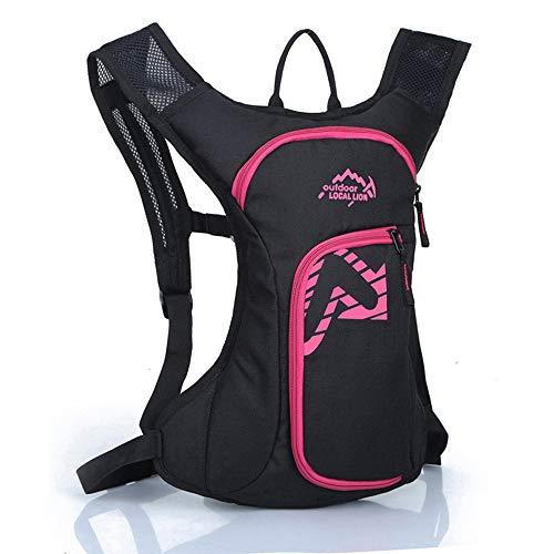 Sacs à dos de Randonnée Hydratation Résistant À L'eau Sac À Dos Sac À Dos Léger Silicon Bite Tip & Shut Off Valve- Daypack Cycling & Hiking 7L Sacs à dos Bike ( Color : Pink , Size : 40*30*6cm )