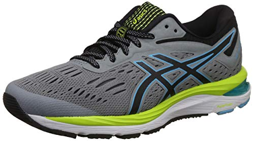 Asics Gel-Cumulus 20 Mujeres Running Trainers 1012A008 Sneakers Zapatos (UK 9.5 US 11 EU 44, Stone Grey Black 020)