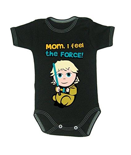 Couleur Mode bébé Luke bodies à manches courtes 100% coton Petit bébé – 24 mois – 0014 noir tiny baby, 52 cm