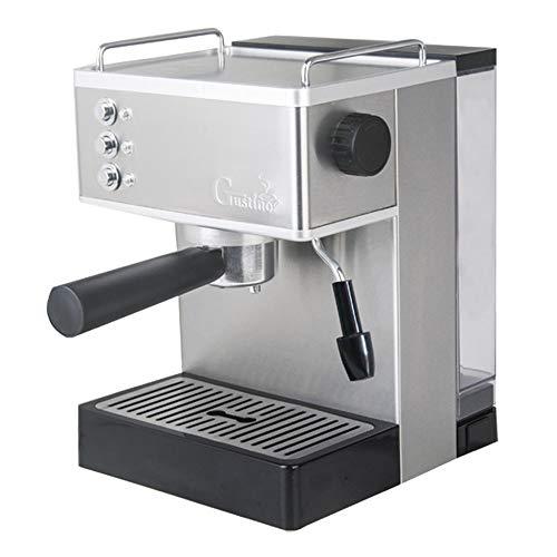 Huishouden pomp druk semi automatisch roestvrij staal espresso machine melkopschuimer melk stoomkoker koffie melkopschuimer machine steam milk bubble machine gs-690 (zilver 110 V)