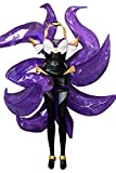 MingoTor Zorro de Nueve Colas Ahri K/DA Skin Outfit Disfraz Traje de Cosplay Ropa Mujer XS
