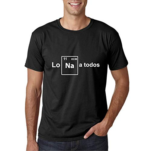 Lo Na a Todos - Camiseta Manga Corta (Negro, L)